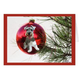 Accrocher de boule de carte de Noël de Schnauzer