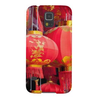 Accrocher de lanterne de chinois traditionnel coques pour galaxy s5