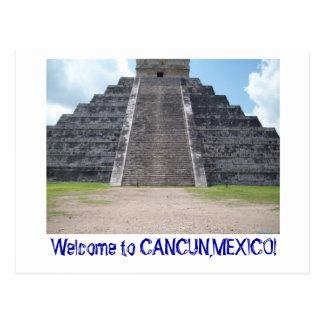 Accueil à Cancun, carte postale du Mexique