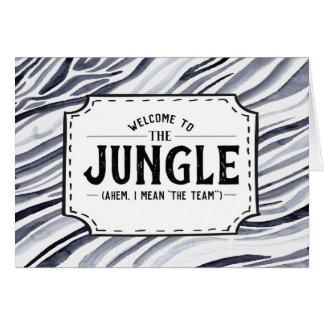 Accueil à la jungle (Ahem, je veux dire l'équipe) Cartes