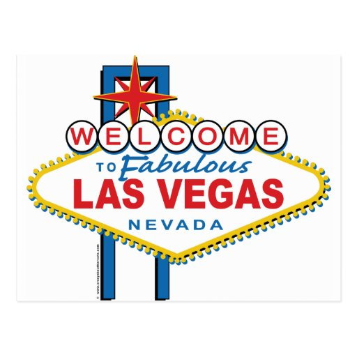 Accueil-à-Las-Vegas Carte Postale