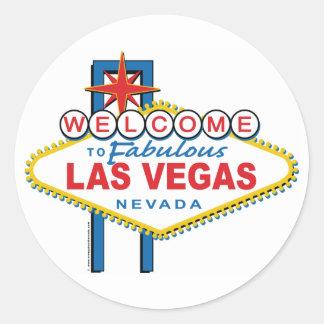 Accueil-à-Las-Vegas Sticker Rond