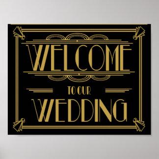 Accueil à notre copie d'art déco de mariage posters