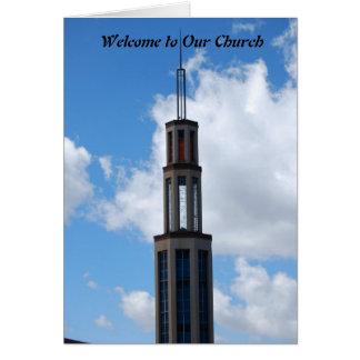 Accueil à notre église cartes