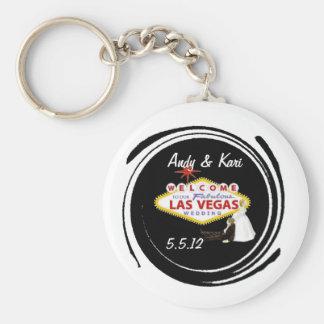 Accueil à notre épouser fabuleux de Las Vegas Porte-clé Rond