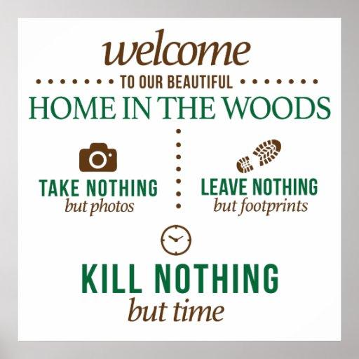 Accueil à notre maison dans l'affiche en bois