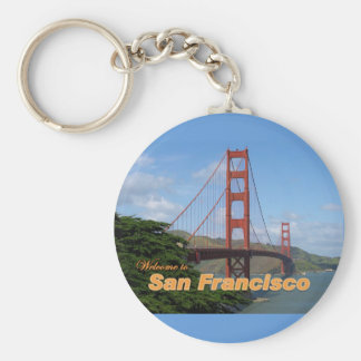 Accueil à San Francisco - golden gate bridge Porte-clé Rond