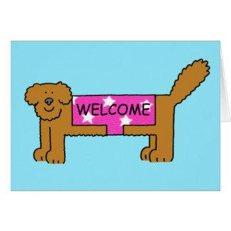 Accueil au club/au voisinage, chien dans le cartes