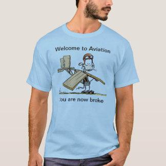 Accueil au T-shirt drôle d'aviation