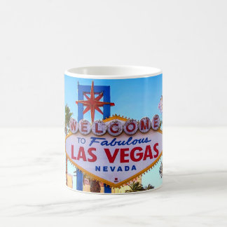 Accueil dans la tasse de signe de Las Vegas