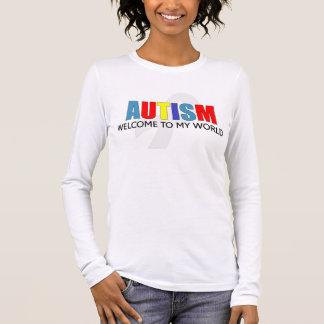 Accueil d'autisme à mon monde t-shirt à manches longues