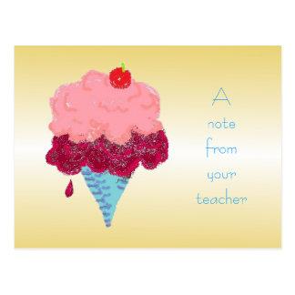 Accueil d'étudiant de crème glacée de carte