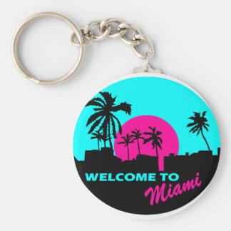 Accueil frais à la conception de Miami Porte-clé Rond
