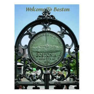 Accueil vers Boston Carte Postale