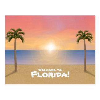 Accueil vers la Floride : Carte postale de scène