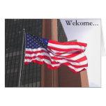 Accueil vers l'Amérique !  Congratualtions/citoyen Carte De Vœux