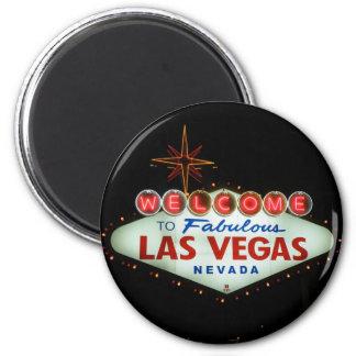 Accueil vers Las Vegas fabuleux - le Nevada Magnet Rond 8 Cm