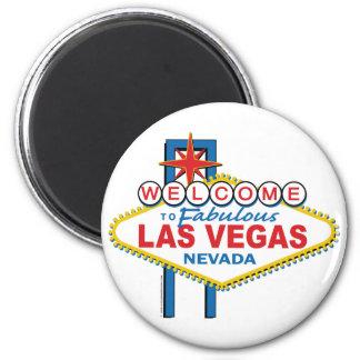 Accueil vers Las Vegas fabuleux Magnet Rond 8 Cm