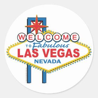 Accueil vers Las Vegas fabuleux Sticker Rond