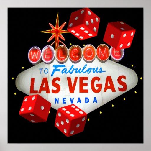 Accueil vers Las Vegas + Graphique de vecteur de m Poster