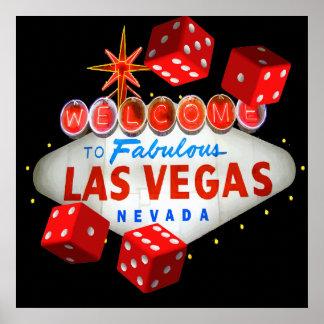 Accueil vers Las Vegas + Graphique de vecteur de m Posters