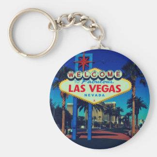Accueil vers Las Vegas ! Porte-clé Rond