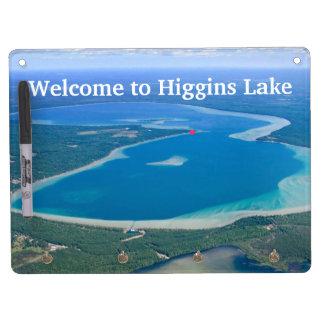 Accueil vers le lac Higgins Tableau Effaçable À Sec Avec Porte-clés