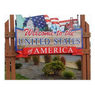 Accueil vers les Etats-Unis Carte Postale