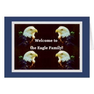 Accueillez à Eagle la famille Carte De Vœux