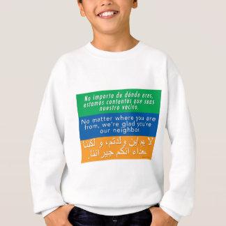 Accueillez vos voisins - anglais-arabe espagnol sweatshirt