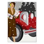 Achat dans la neige cartes de vœux