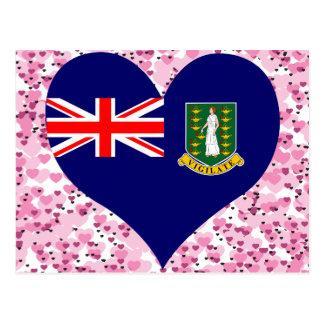 Achetez le drapeau des Îles Vierges britanniques Carte Postale