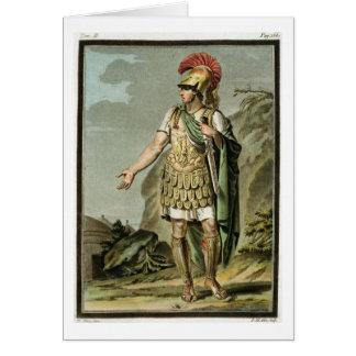 Achille dans l'armure, costume pour 'Iphigenia Cartes