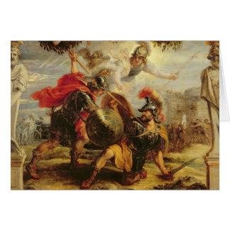 Achille défaisant Hector, 1630-32 Cartes