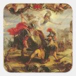 Achille défaisant Hector, 1630-32 Sticker Carré