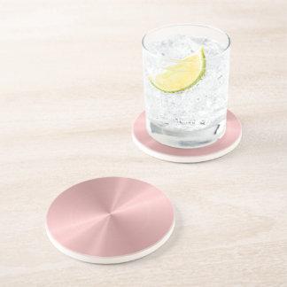 Acier inoxydable personnalisé d'or rose métallique dessous de verre