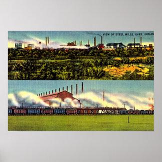Aciéries 1930 de Gary, Indiana Affiches