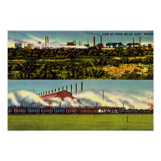 Aciéries 1930 de Gary, Indiana Poster