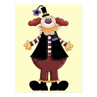 Acte de clown de cirque carte postale