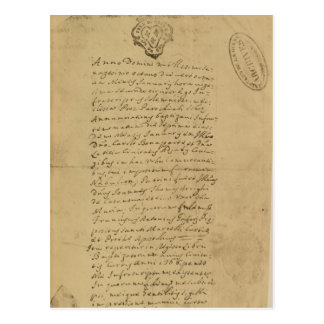 Acte de la naissance du napoléon, 1769 carte postale