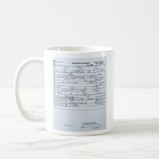 Acte de naissance original certifié de Barack Obam Tasse À Café
