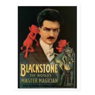 Acte magique vintage de magicien de maître de ~ de carte postale