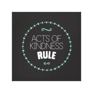 Actes de toile enveloppée par règle de gentillesse