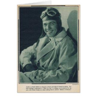Acteur de film silencieux de David Rollins 1929 Carte De Vœux