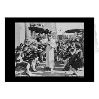 Acteur Lon Chaney comme M. Wu avec la bande 1927 Carte De Vœux