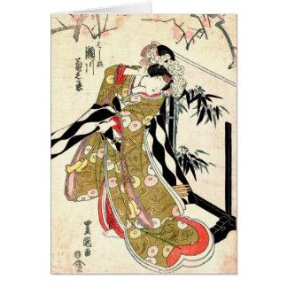 Acteur Segawa Kikunojo 1821 Carte De Vœux