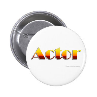 Acteur (texte seulement) badge rond 5 cm