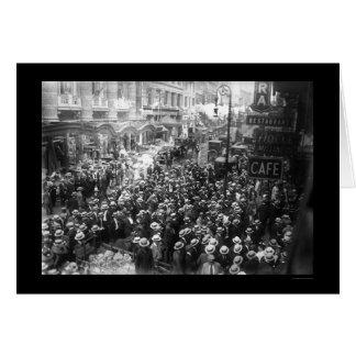 Acteurs frappant à New York City 1919 Carte De Vœux