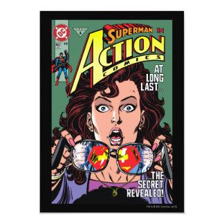 Action bandes dessinées #662 en février 91 carton d'invitation  12,7 cm x 17,78 cm
