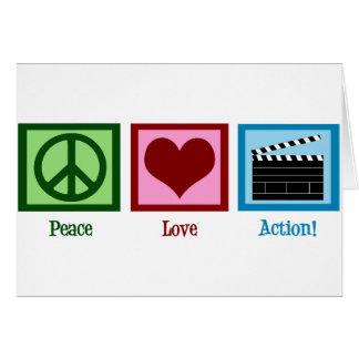 Action d'amour de paix ! carte de vœux